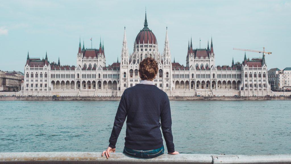 turysta w Budapeszcie