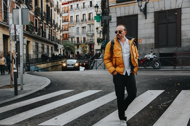 Turysta w Madrycie